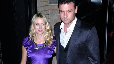 """PHOTO: Naomi Watts and Liev Schreiber attend the """"Filth and Wisdom"""" screening at the IFC Center, October 2008, in New York City."""