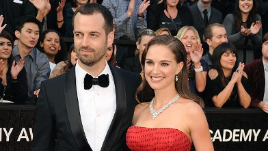 PHOTO:Natalie Portman and Benjamin Millepied arrive at the 84th Annual Academy Awards held at Hollywood & Highland Centre, Feb. 26, 2012 in Hollywood, Calif.