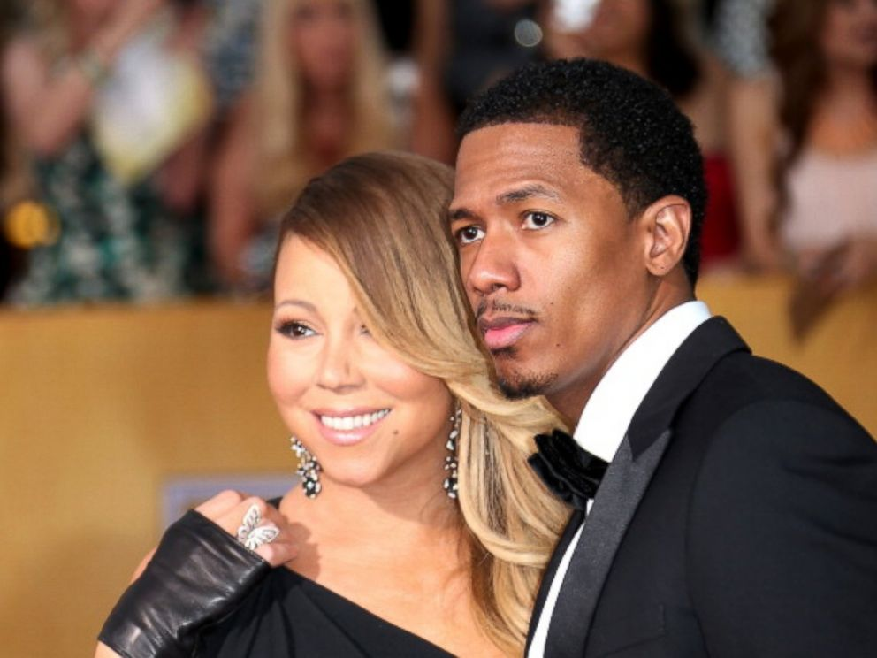 PHOTO: Mariah Carey and Nick Cannon arrive at the 20th Annual Screen Actors Guild Awards at the Shrine Auditorium on Jan. 18, 2014, in Los Angeles, Calif.