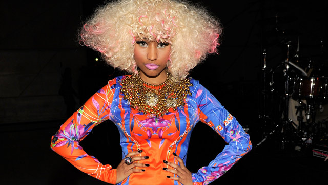 "PHOTO: Singer Nicki Minaj poses during ""VH1 Divas Salute the Troops"" presented by the USO at the MCAS Miramar on December 3, 2010 in Miramar, California."