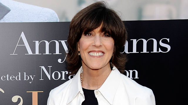 """PHOTO: Nora Ephron arrives at a screening of Columbia Pictures """"Julie & Julia"""" held at Mann Village Theater in this July 28, 2009 file photo in Westwood, California."""