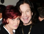 PHOTO: Sharon Osbourne and Ozzy Osbourne attend the Universal Music Group Chairman & CEO Lucian Grainges annual Grammy Awards viewing party, February 10, 2013in Brentwood, California.