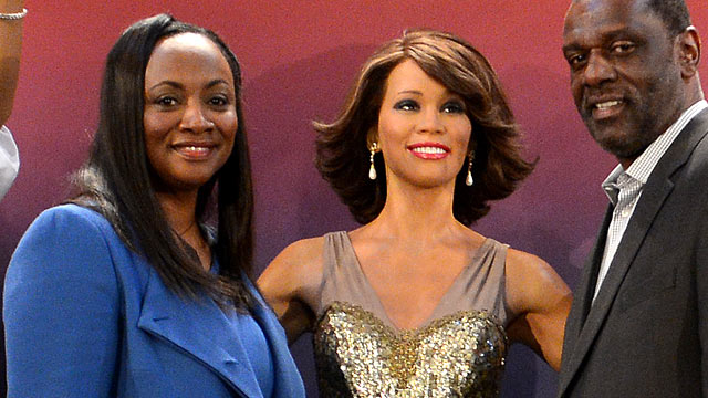 PHOTO: Four wax figures of late singer Whitney Houston are unveiled at Madame Tussauds New York in presence of Pat and Gary Houston, in New York, Feb. 7, 2013.