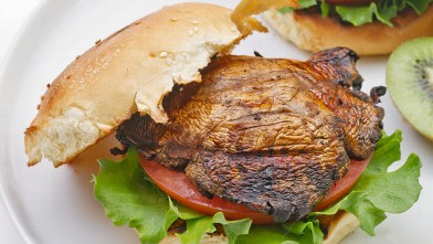 PHOTO: Portobello mushroom burger