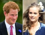 PHOTO: Prince Harry and Cressida Bonas, pictured separately, attend the wedding of Lady Melissa Percy and Thomas Van Straubenzee at St Michaels Church, June 22, 2013, in Alnwick, England.