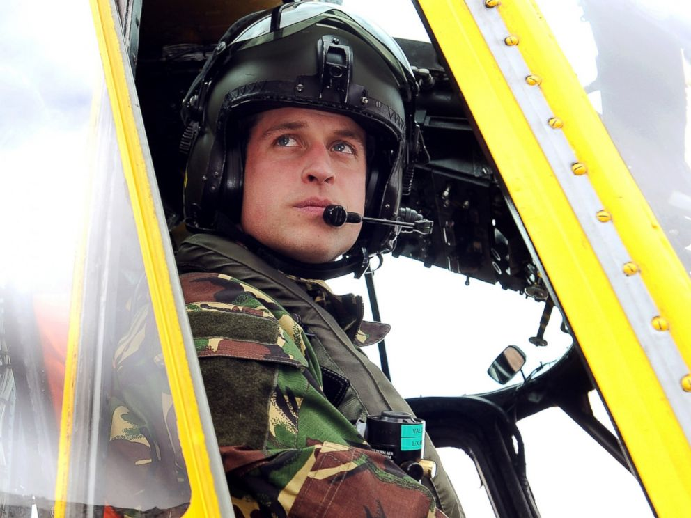 PHOTO: Prince William is seen at the controls of a Sea King helicopter during a training exercise at Holyhead Mountain, north Wales on March 31, 2011.