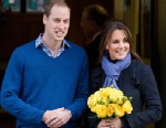 PHOTO: Prince WiIliam, the Duke of Cambridge, poses for pictures with his wife Catherine, Duchess of Cambridge, as they leave the King Edward VII hospital in central London, Dec. 6, 2012.