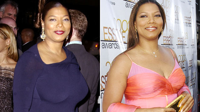 "PHOTO: Queen Latifah, left, at the ""Chicago"" Premiere in Los Angeles, Dec. 20, 2002, and, right, on June 6, 2003 during 2003 Essence Awards Red Carpet in Hollywood, Calif."