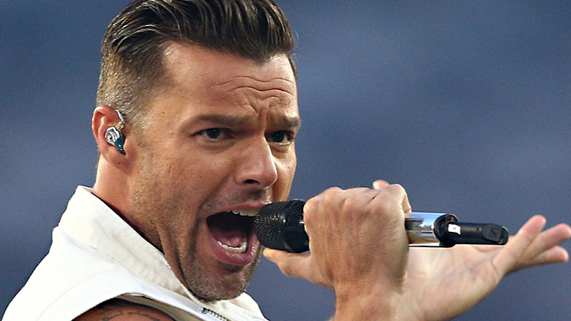 PHOTO:Ricky Martin performs before the 2013 NRL Grand Final match between the Sydney Roosters and the Manly Warringah Sea Eagles at ANZ Stadium, Oct. 6, 2013, in Sydney, Australia.