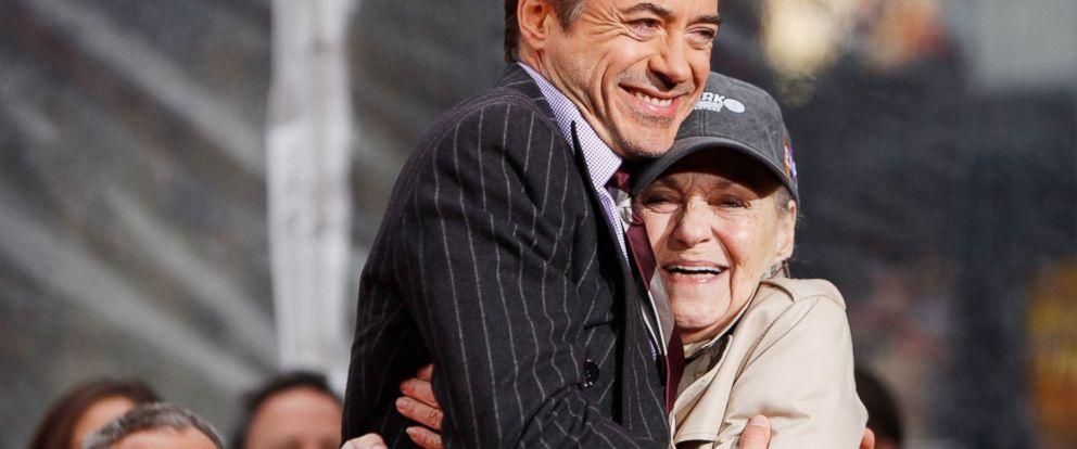 "PHOTO: Robert Downey Jr. and his mom attend his hand-and-footprint ceremony held in conjunction with the film ""Sherlock Holmes"" at Graumans Chinese Theatre Dec. 7, 2009, in Hollywood."