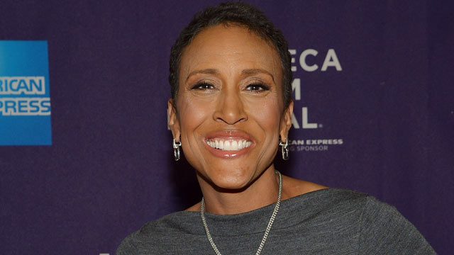 "PHOTO: Broadcaster Robin Roberts attends the world premiere of ESPN movie ""Pat XO"" on April 21, 2013, in New York."