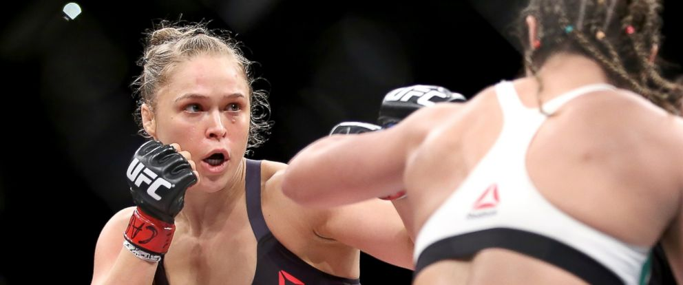 PHOTO: Ronda Rousey fights Bethe Correia in a title fight on Aug. 1, 2015 in Rio de Janeiro.