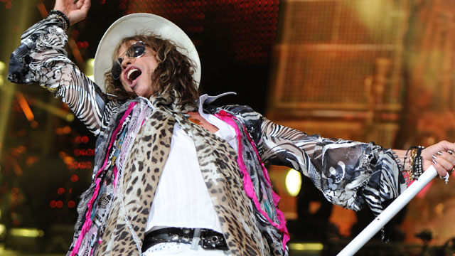 PHOTO: Steven Tyler of Aerosmith performs at the BankAtlantic center on August 10 2010 in Sunrise Florida.