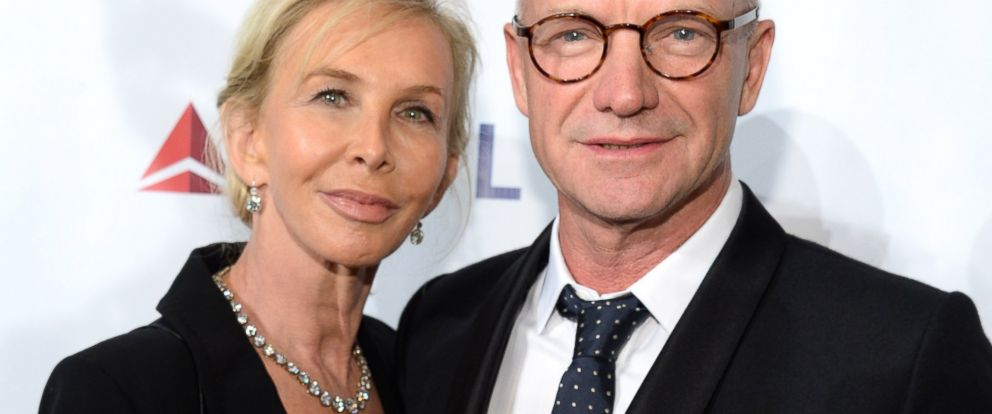 PHOTO: Trudie Styler and Sting attend the Friars Foundation Gala honoring Robert De Niro and Carlos Slim at The Waldorf Astoria on Oct. 7, 2014 in New York City.
