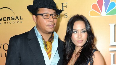"""PHOTO:Terrence Howard and Michelle Ghent arrive at premiere of NBC's """"Law & Order: Los Angeles"""" held at Drai's Hollywood, Sept. 27, 2010 in Los Angeles, Calif."""