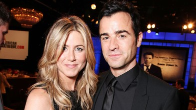 PHOTO: Jennifer Aniston and Justin Theroux at American Cinematheque's 2011 Award Show Honoring Robert Downey Jr. at The Beverly Hilton Hotel on Oct. 14, 2011 in Beverly Hills, Cali.