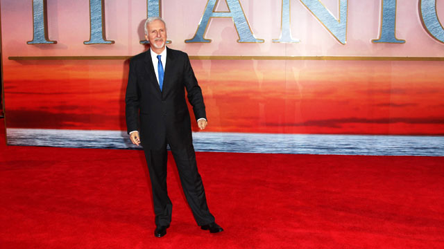 PHOTO: James Cameron attends the world premiere of Titanic 3D at The Royal Albert Hall, March 27, 2012 in London, England.