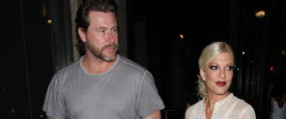 PHOTO: Dean McDermott and Tori Spelling as seen on July 6, 2013 in Los Angeles, California.
