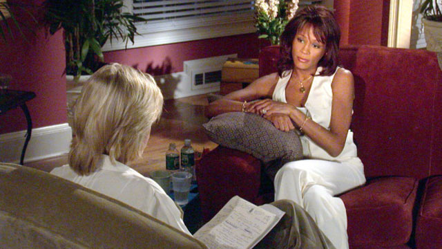 PHOTO: Whitney Houston sits down with ABC News' Diane Sawyer for a revealing one-hour interview at her home in suburban Atlanta, in this 2002 file photo.
