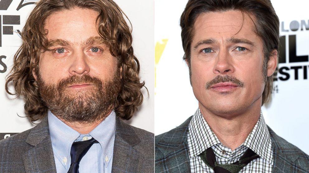 Watch Zach Galifianakis Ask Brad Pitt If He S Seen Friends Abc News