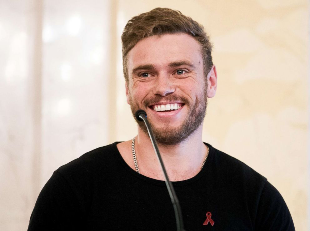 PHOTO: Gus Kenworthy attends the international Life Ball press conference on June 02, 2018.