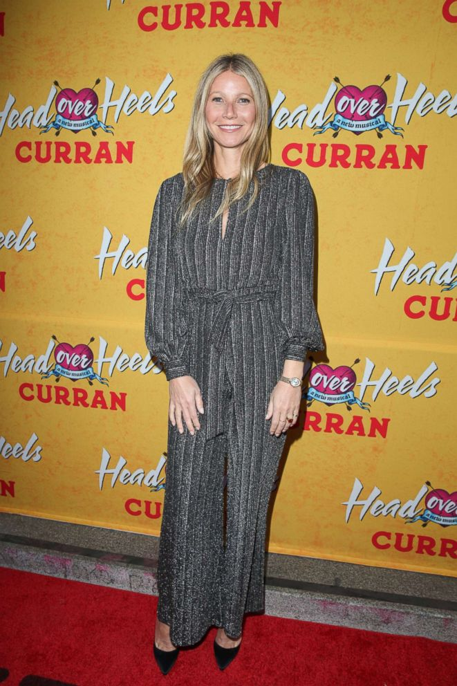 """Gwyneth Paltrow arrives on the red carpet for the Pre-Broadway Opening Engagement Of """"Head Over Heels"""" at the Curran Theater, April 18, 2018 in San Francisco."""