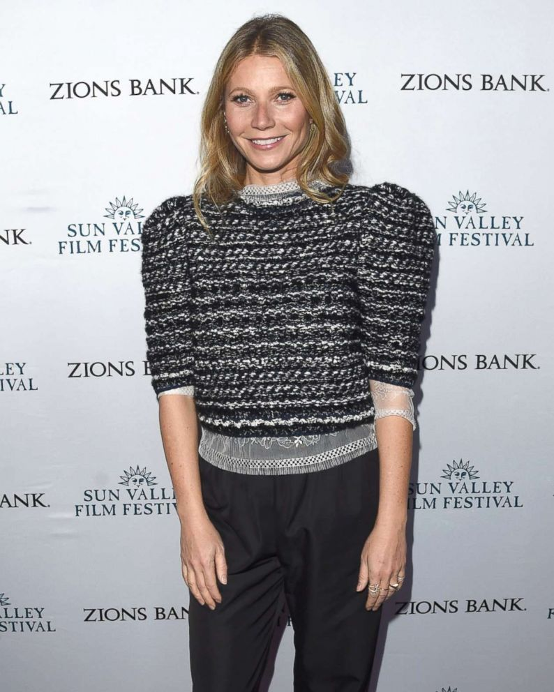 PHOTO: Gwyneth Paltrow attends the 2018 Sun Valley Film Festival - Vision Award Dinner for Gwyneth Paltrow held at the Roundhouse, March 17, 2018 in Sun Valley, Idaho.