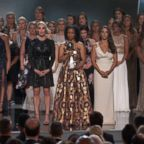 Victims of Larry Nassar were honored with the Arthur Ashe courage award at the 2018 ESPY's, July 18, 2018.