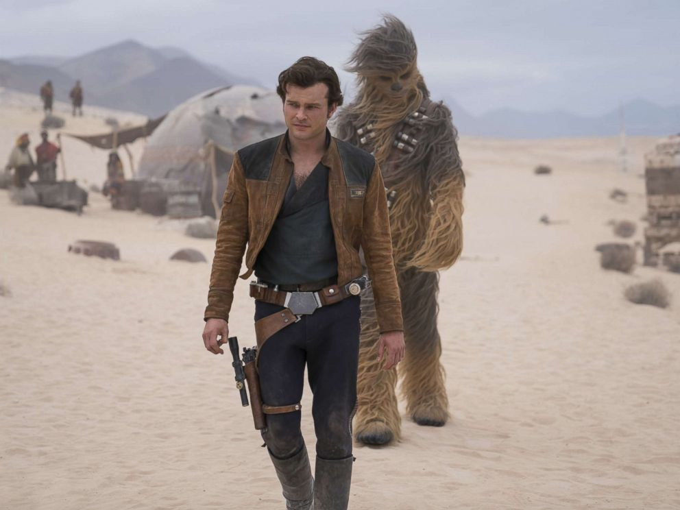 PHOTO: Alden Ehrenreich is Han Solo and Joonas Suotamo is Chewbacca in Solo: A Star Wars Story.