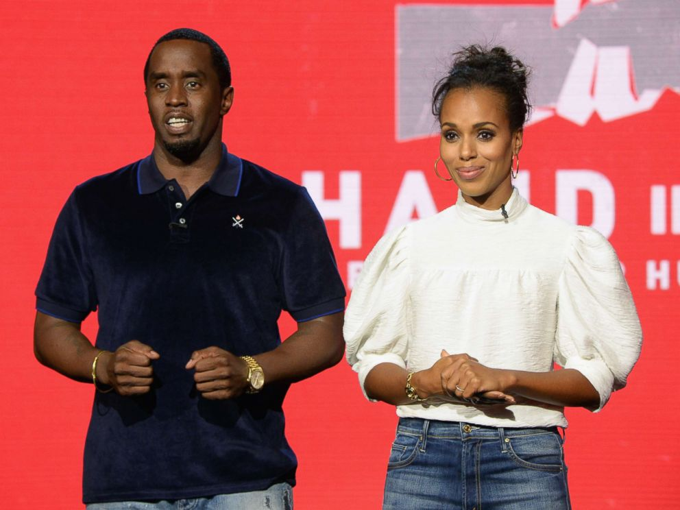 PHOTO: Sean Diddy Combs and Kerry Washington attend Hand in Hand: A Benefit for Hurricane Relief at Universal Studios AMC on Sept. 12, 2017 in Universal City, Calif.