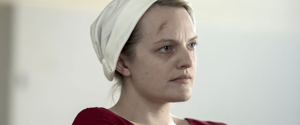 "PHOTO: Offred (Elisabeth Moss), is shown in the second season of ""The Handmaids Tale. """