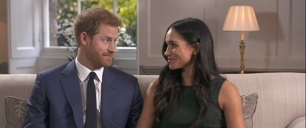 PHOTO: Britains Prince Harry and his fiancee, U.S. actress Meghan Markle give their first interview following their engagement, Nov. 27, 2017.