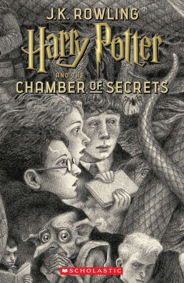 PHOTO: Scholastics new book cover for Harry Potter and the Chamber of Secrets, featuring art by Brian Selznick, is pictured here.