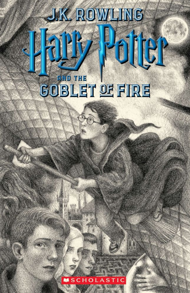 PHOTO: Scholastics new book cover for Harry Potter and the Goblet of Fire, featuring art by Brian Selznick, is pictured here.