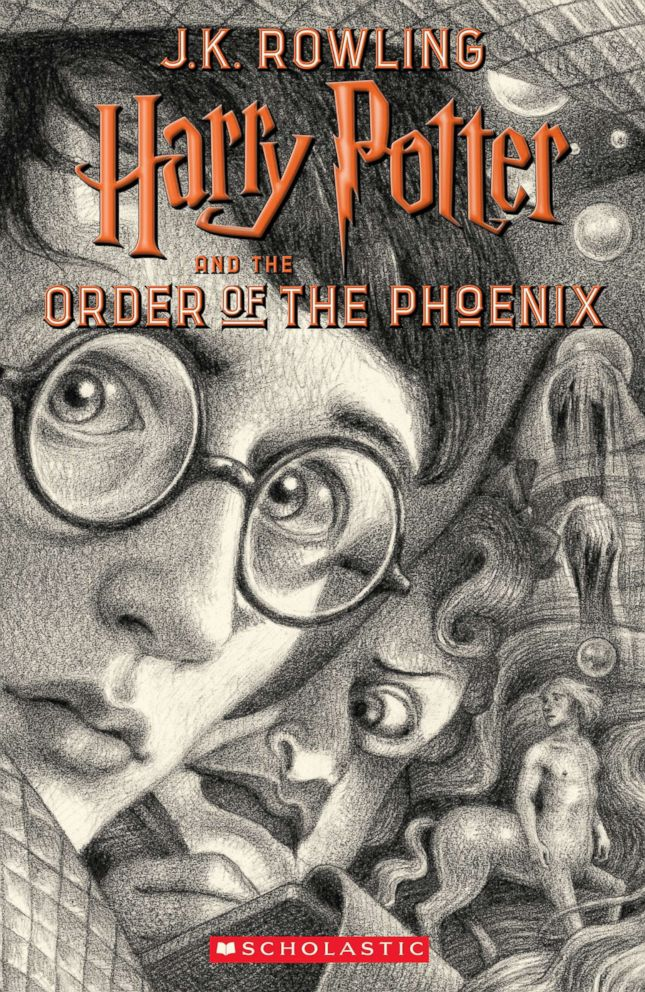 PHOTO: Scholastics new book cover for Harry Potter and the Order of the Phoenix, featuring art by Brian Selznick, is pictured here.
