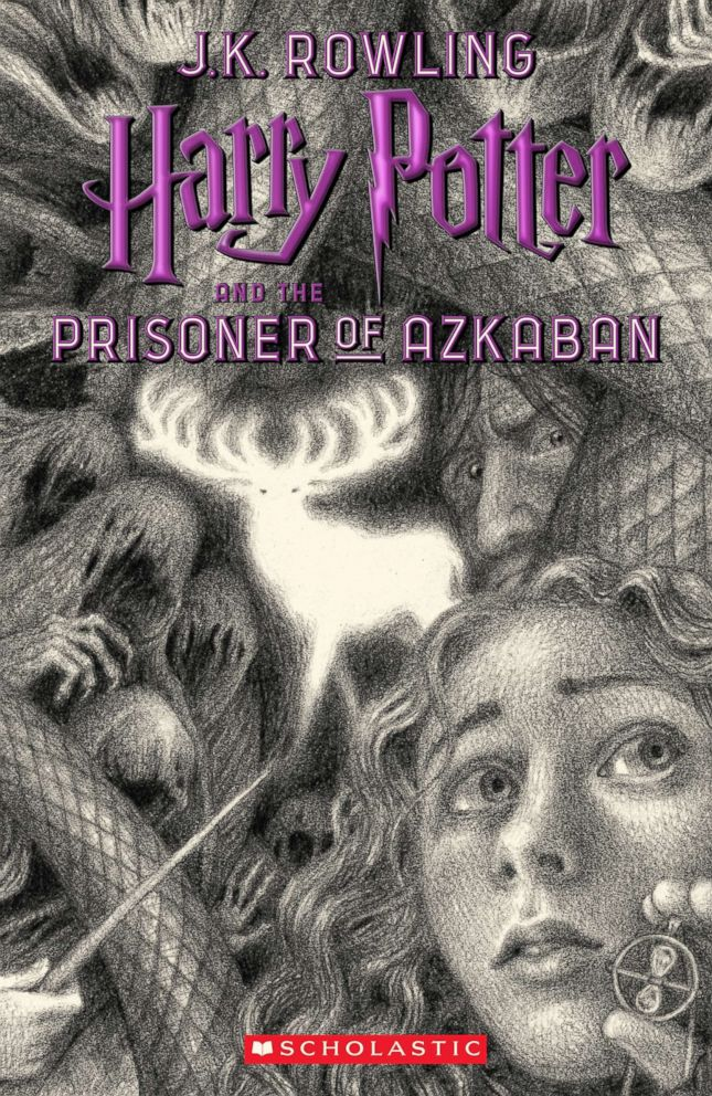 PHOTO: Scholastics new book cover for Harry Potter and the Prisoner of Azkaban, featuring art by Brian Selznick, is pictured here.