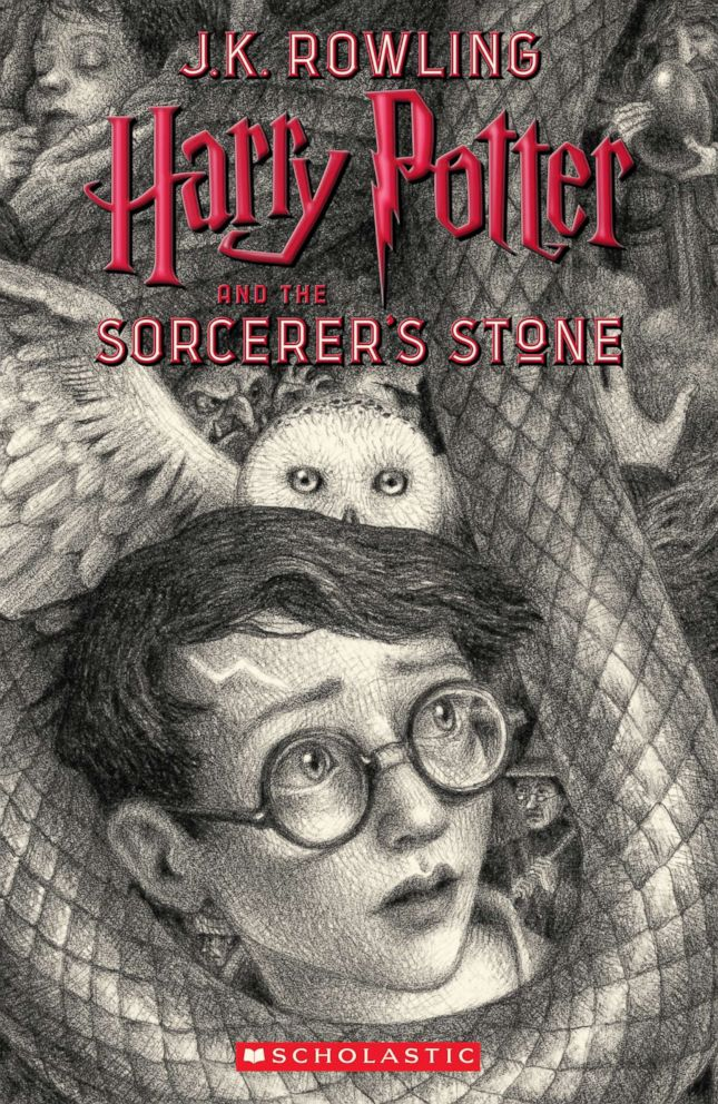 PHOTO: Scholastics new book cover for Harry Potter and the Sorcerers Stone, featuring art by Brian Selznick, is pictured here.