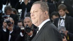 """PHOTO: Harvey Weinstein posing on May 24, 2013 as he arrives for the screening of the film """"The Immigrant"""" presented in Competition at the 66th edition of the Cannes Film Festival in Cannes."""