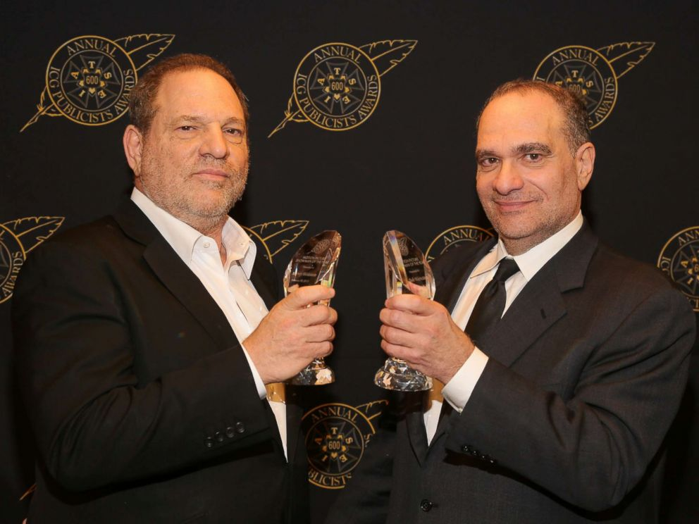 PHOTO: Harvey Weinstein poses with Bob Weinstein backstage at the 52nd Annual ICG Publicists Awards at on Feb. 20, 2015, in Beverly Hills, Calif.
