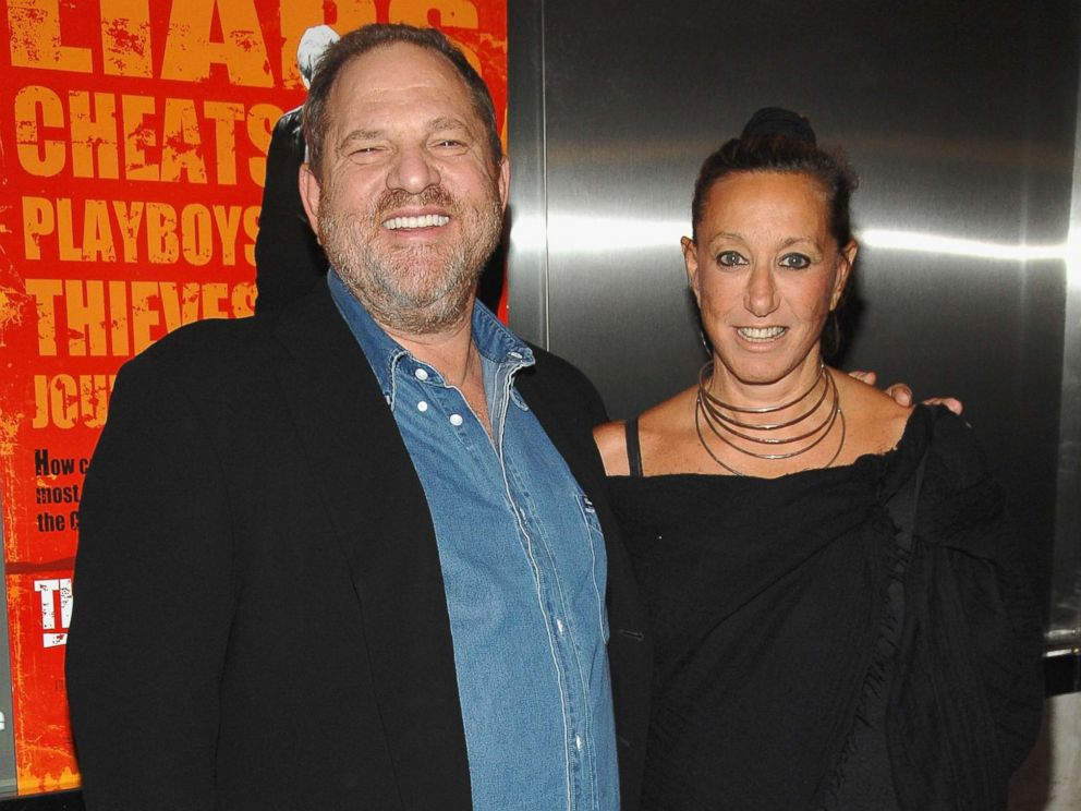 PHOTO: Harvey Weinstein and designer Donna Karan arrive during the premiere of The Hunting Party at the Paris Theater in this Aug, 22, 2007 file photo in New York.