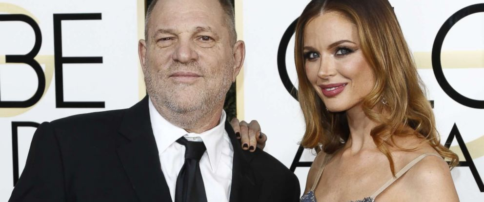 PHOTO: Harvey Weinstein and Georgina Chapman arrive at the 74th Annual Golden Globe Awards, Golden Globes, in Beverly Hills, Calif., Jan. 8, 2017.