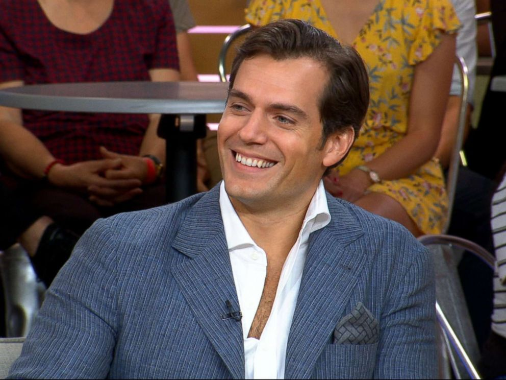 PHOTO: Henry Cavill appears on Good Morning America to promote his new movie, Mission Impossible, July 24, 2018.