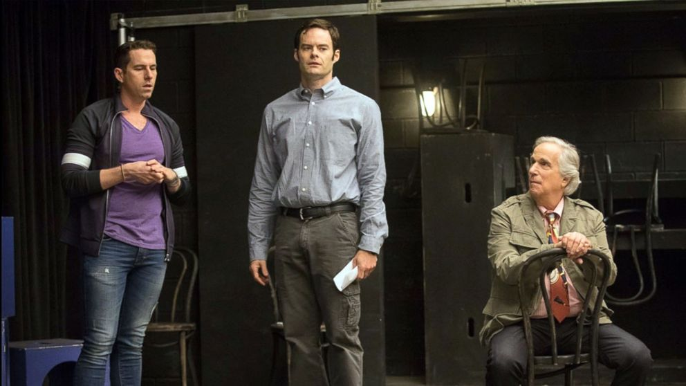 """Rightor Doyle, Bill Hader and Henry Winkler in a scene from HBO's """"Barry."""""""