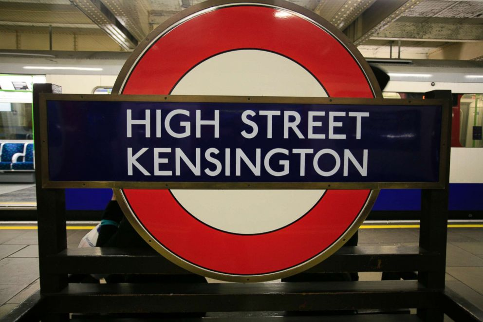 PHOTO: High Street Kensington tube station underground in London.