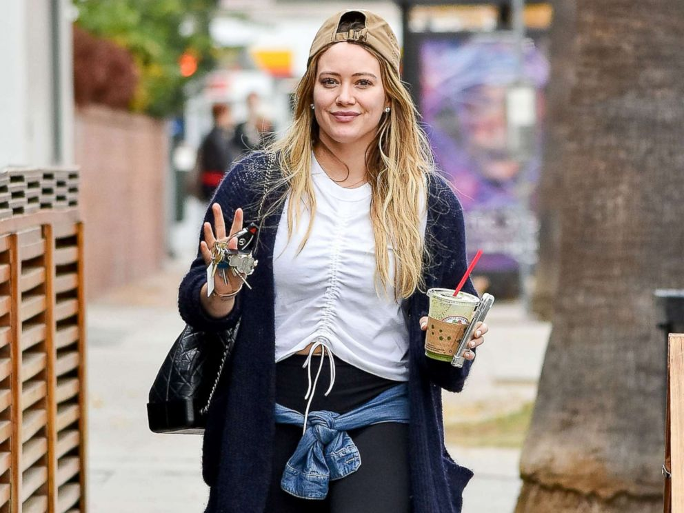 PHOTO: Hilary Duff on the streets of Los Angeles, Jan 3, 2018.