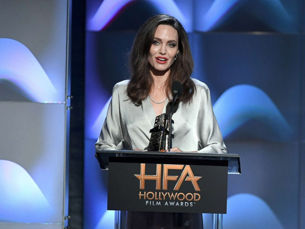 PHOTO: Angelina Jolie accepts the Hollywood Foreign Language Film Award for First They Killed My Father during the 21st Annual Hollywood Film Awards, Nov. 5, 2017, in Beverly Hills, Calif.