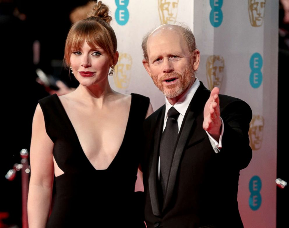PHOTO: Bryce Dallas and Ron Howard at the British Academy Film Awards 2017, Feb. 12, 2017, in London.