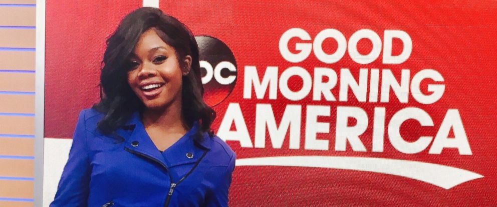 "PHOTO: Olympic gymnast Gabby Douglas talks to ""GMA"" about her new role with an anti-cyberbullying campaign after being the subject of social media attacks."