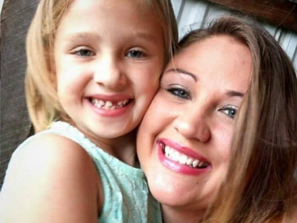 PHOTO: Lainie Griffin, 7, of Indiana, and her mom, Jess, pose in this undated handout photo.