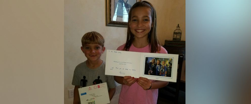 PHOTO: Ana-Maria Radetic, 10, and Vinko Radetic, 5, of Abbeville, Alabama, were featured in a Christmas card sent by Prince Harry.